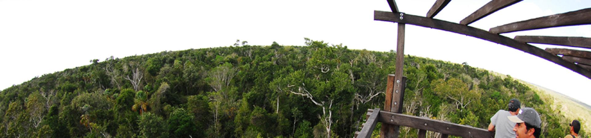 panoramica desde la torre de Noh Bec
